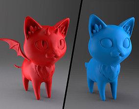 3D print model kitty Stulized cat - Demon cat