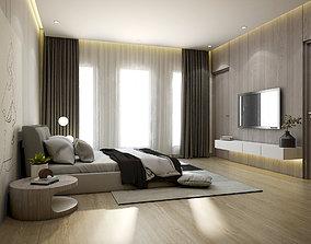 3D model Simple Bedroom bedroom