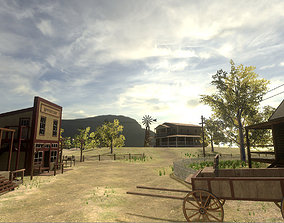 Wild Western Pack Unity3D low-poly