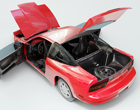 1991 Nissan S13 240SX Fully Rigged 3D model