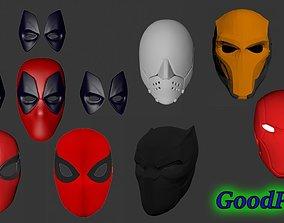 3D print model Set of masks Spider-Man Deadpool 3