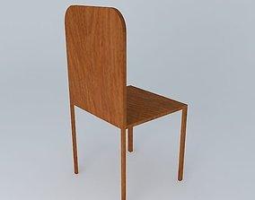3D model Plain Wooden Chair