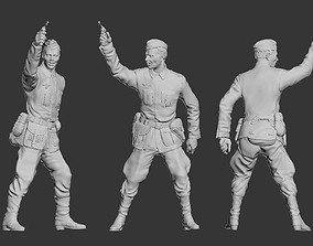German officer 3D print model