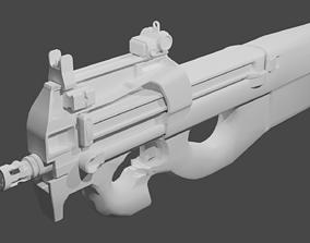 FN P90 3D asset realtime