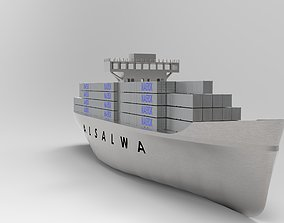 parts Container ship 3D model