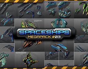 3D model Spaceships Megapack 03