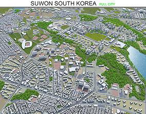 Suwon South Korea 25km 3D model VR / AR ready