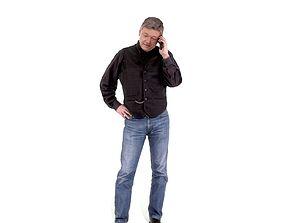 3D model Casual Man Talking on Phone