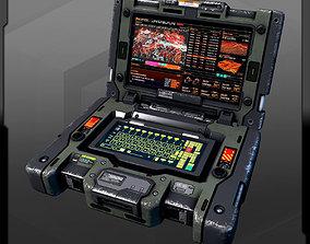 3D asset SF Military Laptop