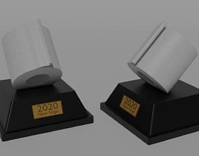 3D printable model 2020 Covid-19 Toilet Paper Statue