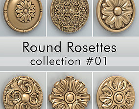 3D Round Rosettes collection 01