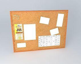3D asset Cork Pin board