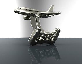 Cufflinks Sukhoi Superjet 3D printable model