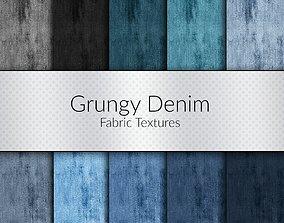 Grungy Denim Seamless Textures Set 3D model