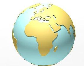 world globe 3D model travel