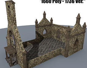 3D model Ruined House 3x