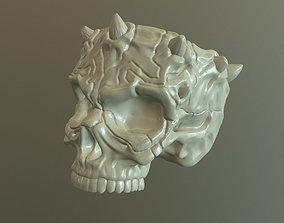 3D print model Skull container