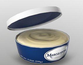 3D asset Mascarpone Cheese