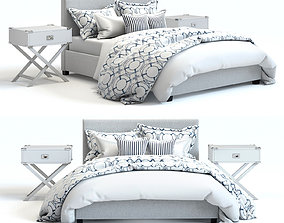 3D model Pottery Barn - Raleigh Square Bed