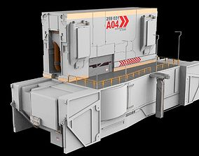 3D model sci-fi Architectural element 13