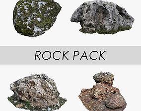 Rock Pack 3D asset game-ready
