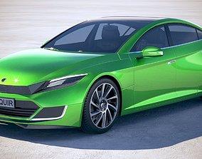 Generic Electric Sedan 2 2017 3D model