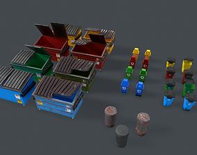 Dumpster Pack 3D asset low-poly