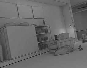 Modern Relaxation Living Room 3D