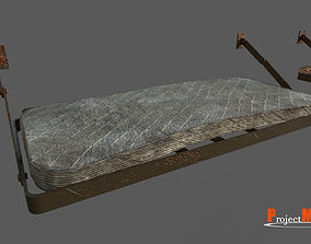 3D asset Old prison bed v01