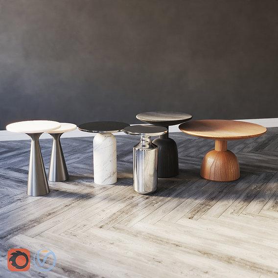 Side Tables . Set 01