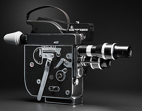 Bolex H16 vintage camera 3D model