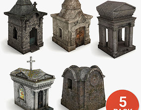 Lowpoly Tomb Pack 3D model