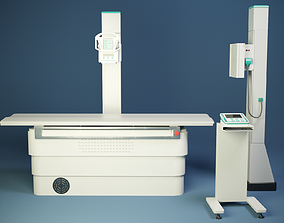 3D asset game-ready X-ray machine PBR