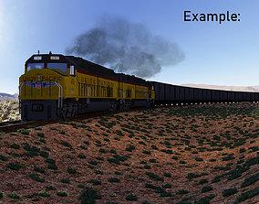 EMD DDA40x for Rendering in Blender 3D model PBR
