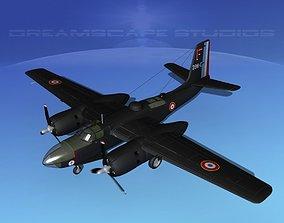 Douglas A-26C Invader France 3D model