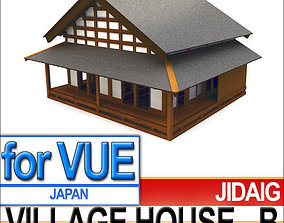 Japanese Village House Block B 3D model