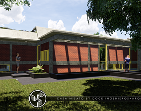 Misato house - Autodesk Revit 3D model