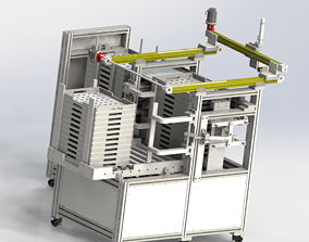 3D model Stacking machine