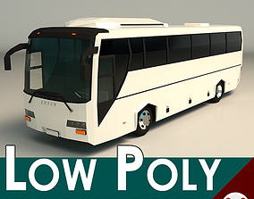 3D model Low Poly Coach Bus 04