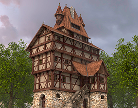 3D model Half-timbered house from the 17th CENTURY