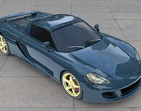 Porsche Carrera GT 2018 3D model low-poly