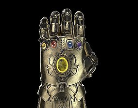 3D gold Thanos Infinity Gauntlet Avengers Marvel