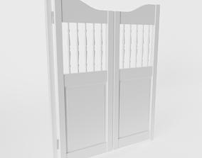 White Saloon Door 3D model