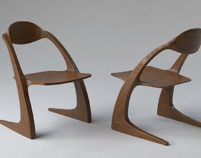 Handmade Hardwood Chair 3D model