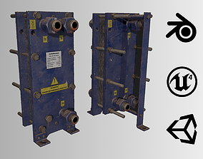 3D asset Old russian small Heat Exchanger