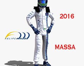 3D asset Felipe Massa 2016