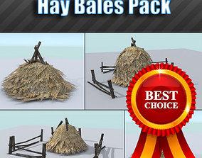 3D asset Hay Bales Pack