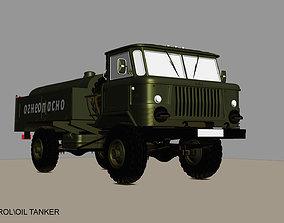 ural GAZ 66 PETROL OIL TANKER 3D model