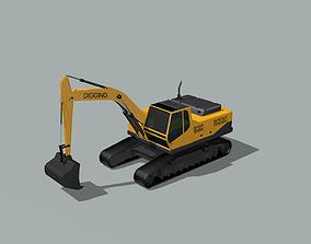 3D model 3d excavator