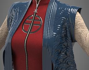 3D model Female asian stile costume
